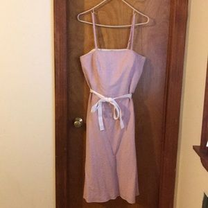 Ann Taylor Loft striped dress size 10